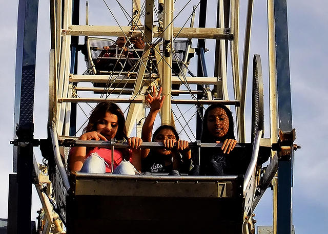 A-Trio on Ferris Wheel